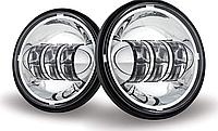 Протитуманні світлодіодні фари 4,5 дюйма (LED)  хром, DL-J045F-С, Jeep, Harley, Кастом мото, 1 пара