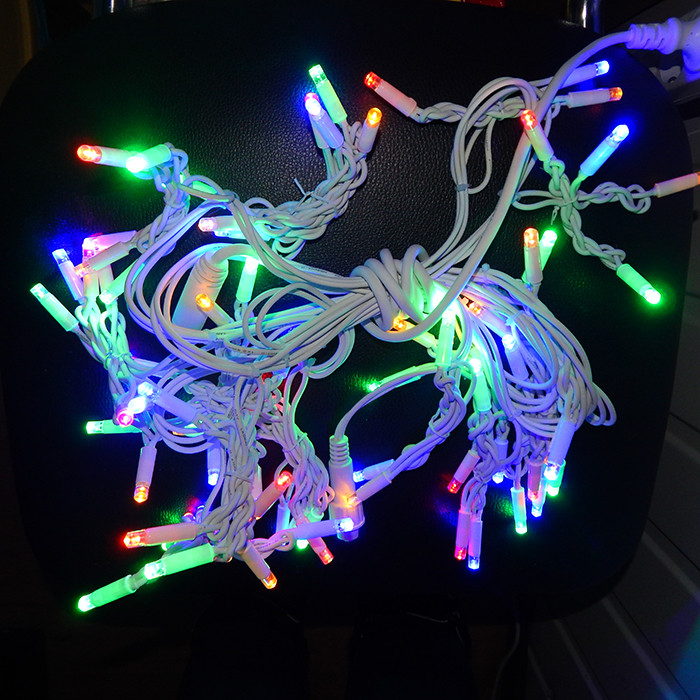 Гирлянда уличная Бахрома, 120 led, мульти, белый провод, 3,3м.