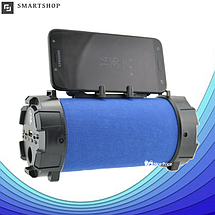 Портативная bluetooth колонка SPS F18 Super Bass с фонариком, Синяя, фото 3