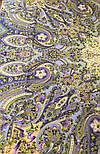 Единственная 1757-2, павлопосадский платок (шаль) из уплотненной шерсти с шелковой вязаной бахромой, фото 6