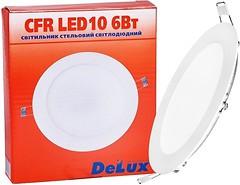 Врезной светильник DELUX CFR LED 4100 К 6 Вт 220 В круглый