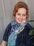 Караван 970-0, павлопосадский платок (шаль) из уплотненной шерсти с шелковой вязанной бахромой, фото 5