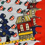 10780-5, павлопосадский платок хлопковый (батистовый) с подрубкой, фото 5
