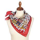 10780-5, павлопосадский платок хлопковый (батистовый) с подрубкой, фото 2