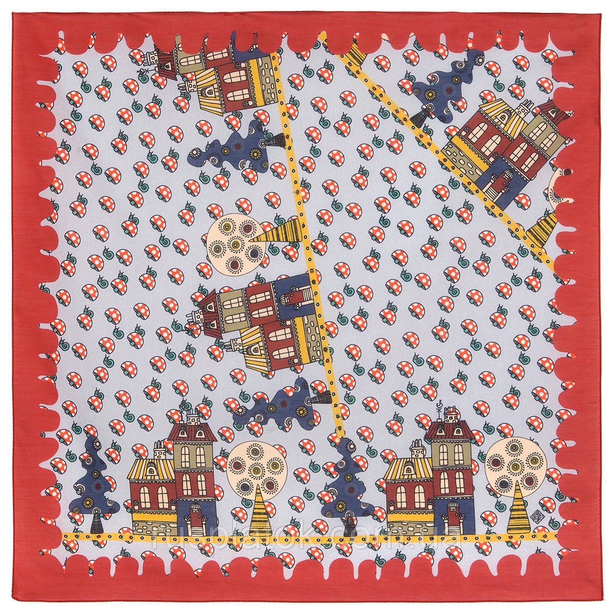 10780-5, павлопосадский платок хлопковый (батистовый) с подрубкой