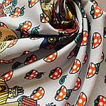 10780-5, павлопосадский платок хлопковый (батистовый) с подрубкой, фото 7