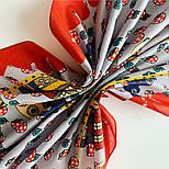 10780-5, павлопосадский платок хлопковый (батистовый) с подрубкой, фото 10