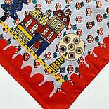 10780-5, павлопосадский платок хлопковый (батистовый) с подрубкой, фото 8