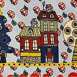 10780-5, павлопосадский платок хлопковый (батистовый) с подрубкой, фото 3