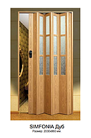 "Двери гармошка под стекло ""Vinci Decor Simfonia"" Дуб оригинал 100%"