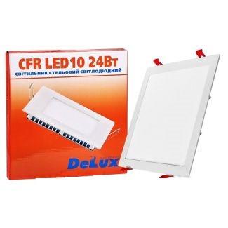 Світильник врізний DELUX CFR LED 10 4100 ДО 24 Вт 220 В квадрат