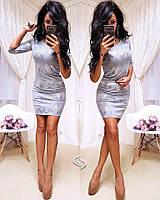 """Новогоднее вечернее женское платье платье пайетка """"Изида"""" серебро размеры С и М"""