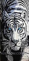 Полотенце пляжное,  с рисунком 3D, тигр