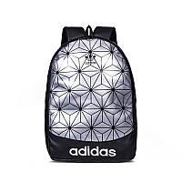 Рюкзак 3D Adidas  адидас рефлективный школьный портфель мужской женский реплика чоловічий 1908/21 Серебряный