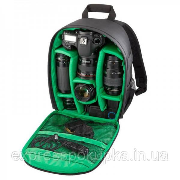 Водоотталкивающая Сумка Рюкзак (фоторюкзак) для фотоаппаратов Canon, Nikon, Sony и др