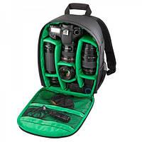 Водоотталкивающая Сумка Рюкзак (фоторюкзак) для фотоаппаратов Canon, Nikon, Sony и др, фото 1