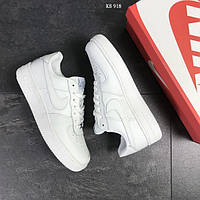 Мужские кроссовки Nike Air Force 1 low (белые)