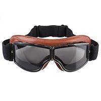 Очки лыжные GX-08  кожа