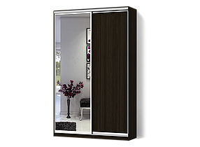 Шкаф-Купе Двухдверный Классик-3 ДСП Венге, Зеркало (Luxe-Studio TM)
