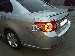 """Спойлер Chevrolet Epica 2006-2012 """"Лип"""" (стеклопластик) """"Orticar"""", под покраску"""