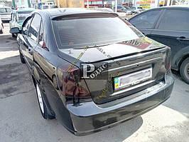 """Спойлер Chevrolet Lacetti """"Лип низкий"""" (стеклопластик) """"Orticar"""", под покраску"""