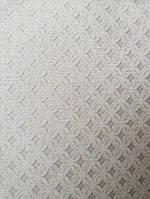 Обои виниловые на флизелине метровые Marburg Kingdom 31512 серые с маленькими темно серыми квадратами