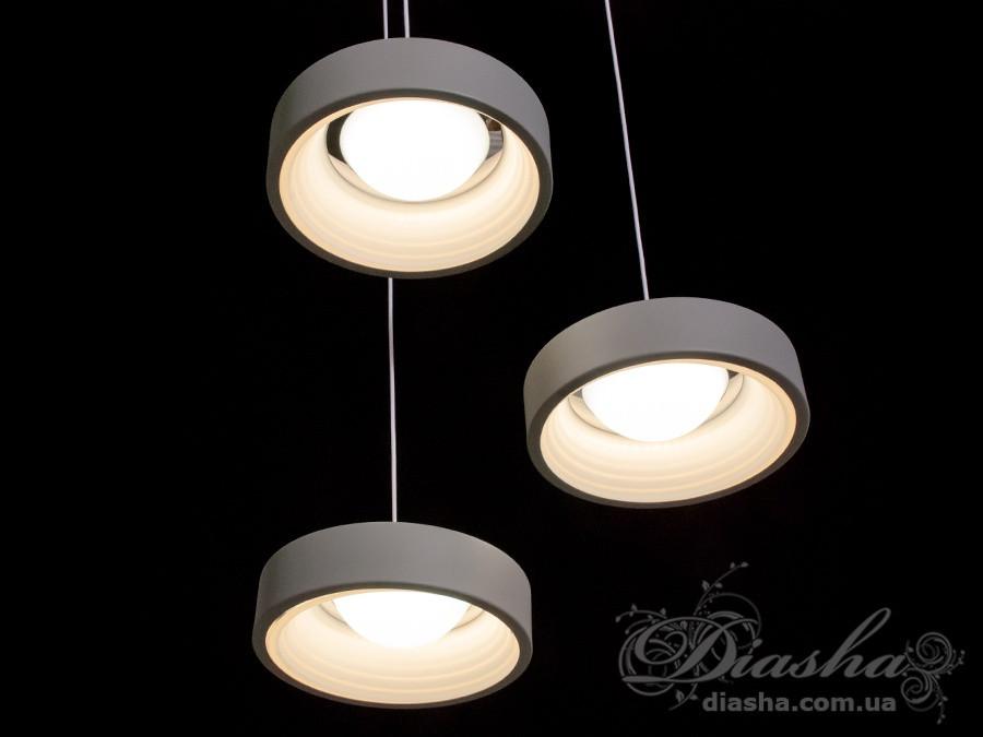 Современная светодиодная люстра, 40W&148/3GR