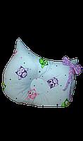 Ортопедическая подушка для младенца masterwork owlet 27*32 см. сирень