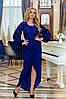 """Вечернее приталенное платье """"Madonna"""" с рукавом-фонариком (большие размеры), фото 3"""
