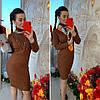 Платье с высоким горлом, трикотаж мелкая машинная вязка. Размер:42-44. Цвета разные. ( 0821), фото 6