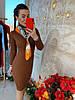 Платье с высоким горлом, трикотаж мелкая машинная вязка. Размер:42-44. Цвета разные. ( 0821), фото 7