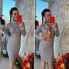 Платье с высоким горлом, трикотаж мелкая машинная вязка. Размер:42-44. Цвета разные. ( 0821), фото 8