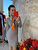 Платье с высоким горлом, трикотаж мелкая машинная вязка. Размер:42-44. Цвета разные. ( 0821), фото 9