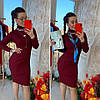 Платье с высоким горлом, трикотаж мелкая машинная вязка. Размер:42-44. Цвета разные. ( 0821), фото 10