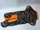 Комбінезон на хутрі 41 см розм Такса середня коричневий для собак, фото 2