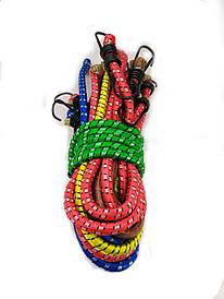 Резинка багажная с крючками  1 м (10 шт/упак) цветная круглая