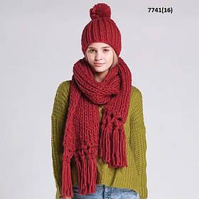 Женская шапка с шарфом 7741(16)