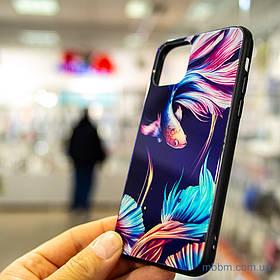 Чохол TPU + Glass світиться в темряві iPhone 11 Pro {5.8} рибка