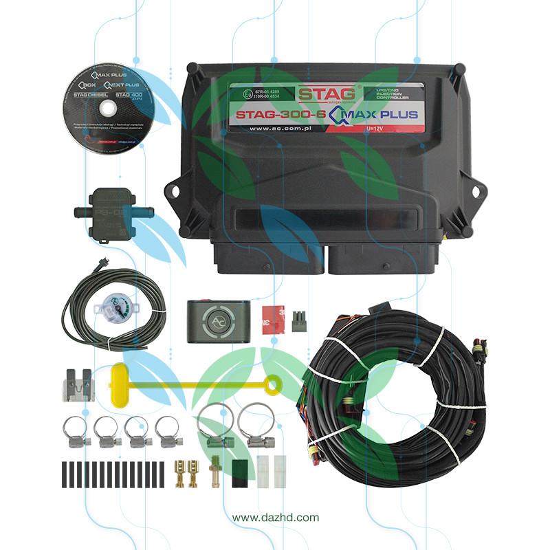 Электроника Stag 6 -300 QMAX PLUS (эл. мап, проводка)