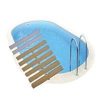 Переливная решётка 180 мм для перелива бассейна. Греция Acqua Source. Белая бежевая песочная, фото 1