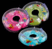 Надувной круг для купания ребенка малышей младенцев от 1 до18 месяцев