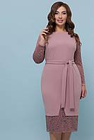 Платье с кружевом больших размеров Марика-Б, XL, XXL, XXXL