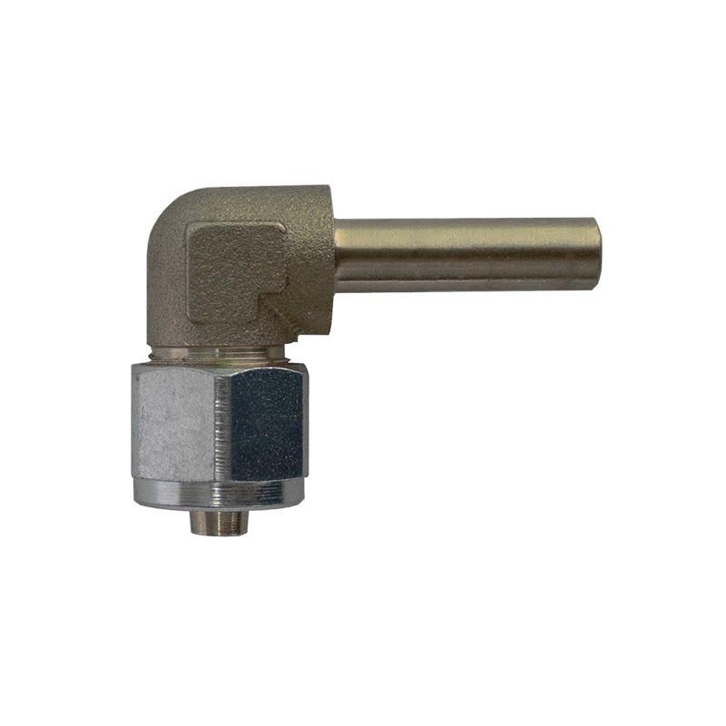 Переходник угловой 90° для трубки ПВХ Ø8 мм
