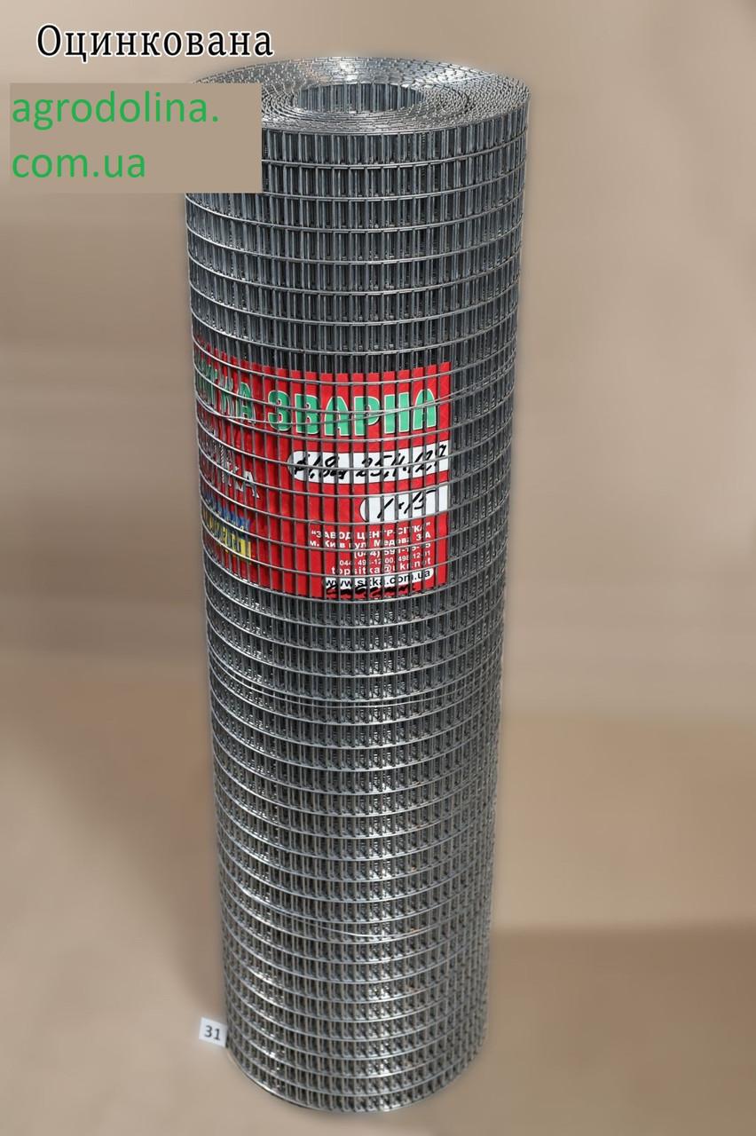 """Сітка зварна гарячого цинкування з """"чорними крапками"""" 1,8 мм 1х15м 50,8х12,7"""