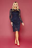 Кружевное синее платье Сания S, M, L