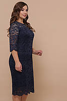 Синее платье для полных женщин Сания XL, XXL, XXXL