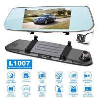 "DVR L1007 Full HD 7"" 2 камеры сенсор видеорегистратор зеркало"