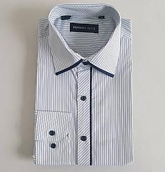 Мужская рубашка с длинными рукавами в мелкую полоску