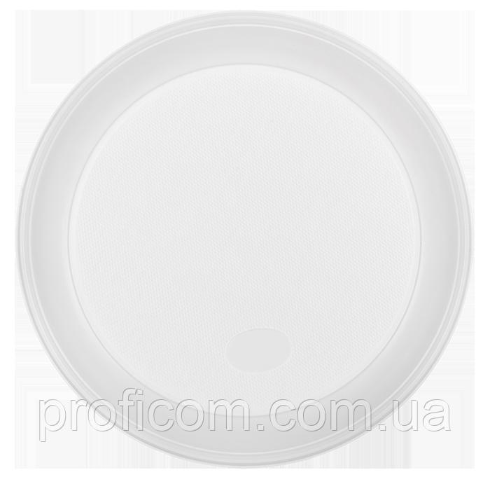 """Тарілки пластикові 205мм (100шт.) білі """"Buroclean"""""""