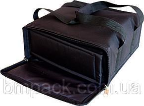 Термосумка для доставки пиццы черная застёжка молния, фото 3